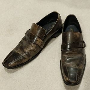 Stacy Adams leather loafers with distressed look